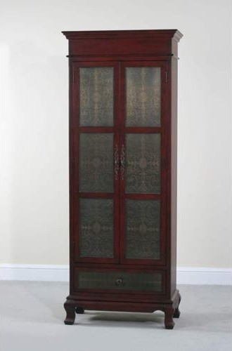 Rachel Tall Red Copper Faced Cupboard - Traditional - other metro - by Bellacor