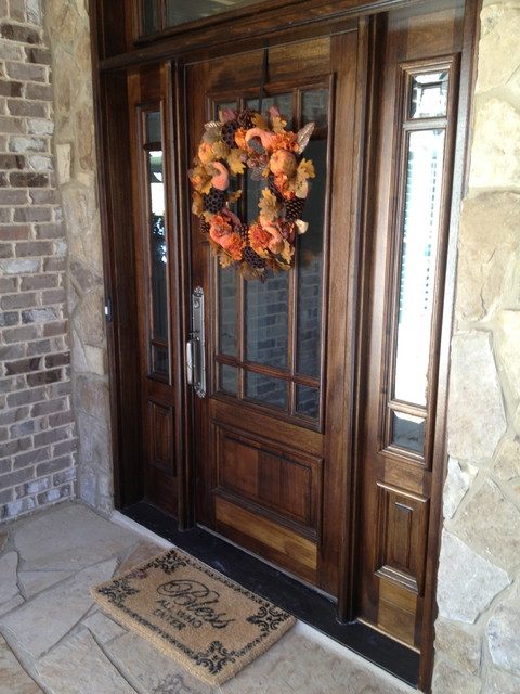 Custom home in barefoot cove for Traditional front doors