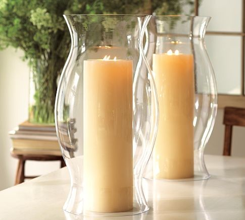 Hourglass Hurricane Sleeve Candles And Candleholders