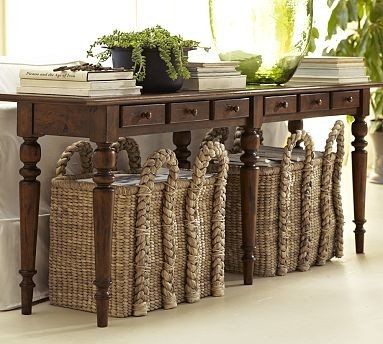 Tivoli Large Console Table Tuscan Chestnut Stain