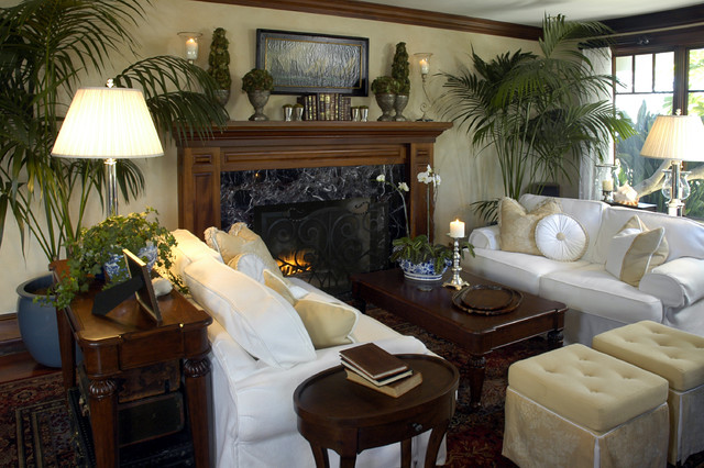 A Seaside Family Room, Living Room, Pool Table Room traditional-family-room