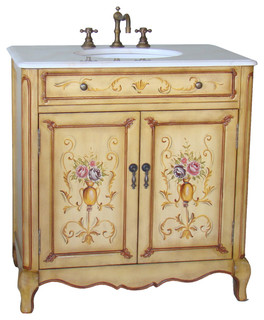 32 Hand Painted Camarin Bathroom Sink Vanity Traditional Bathroom Vanities And Sink