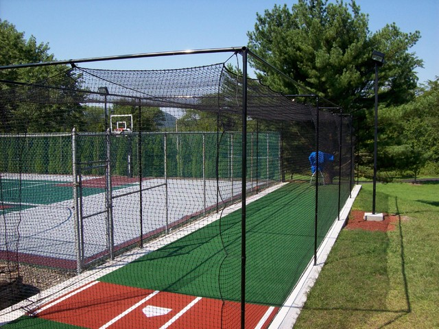batting cages traditional home gym