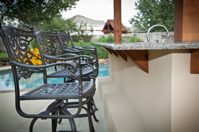 Outdoor Kitchen and Patio Cover in Katy, TX traditional-patio