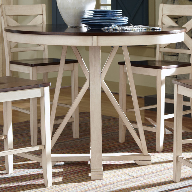 Ellinger Counter Height Table Antique Oak White Beach Style Dining Tables By Modern