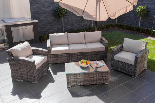 MODA Furnishings Outdoor Wicker Furniture Tahiti 5 Seat