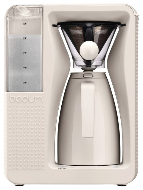 Bodum B. Over Automatic Pour Over Coffee Maker, White - Modern - Coffee And Tea Makers - by Bodum