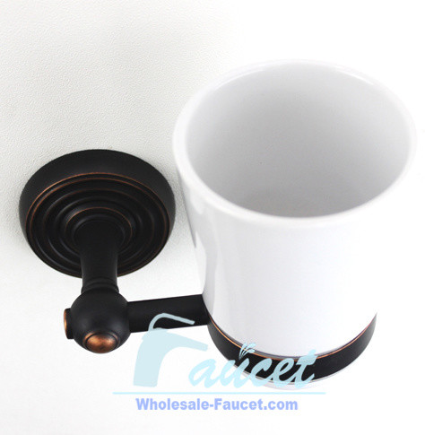 Oil Rubbed Bronze Toothbrush Tumbler Holder traditional-toothbrush-holders