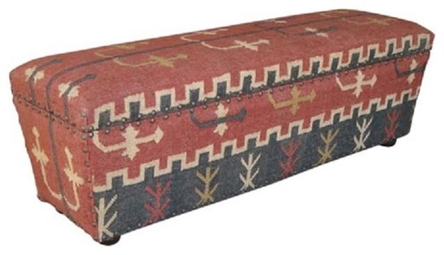 Bajas Rustic Fabric Storage Ottoman