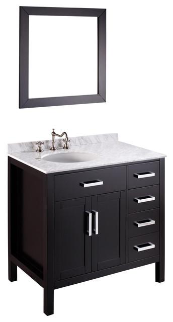 36'' Bosconi SB-2105 Vanity Set transitional-bathroom-vanities-and-sink-consoles