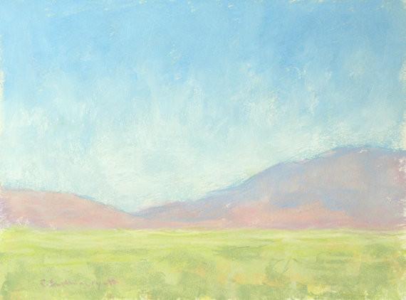 'Desert Morning Light' Original Pastel Painting by Paige Smith-Wyatt contemporary-paintings
