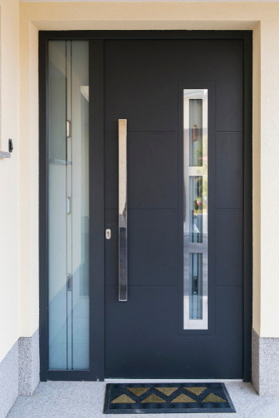 Modern Front Entry Door With A Sidelite Modern Front