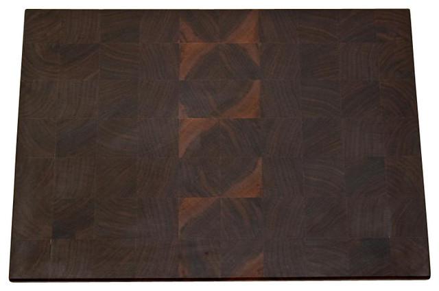 Medium End Grain Walnut Cutting Board traditional-cutting-boards