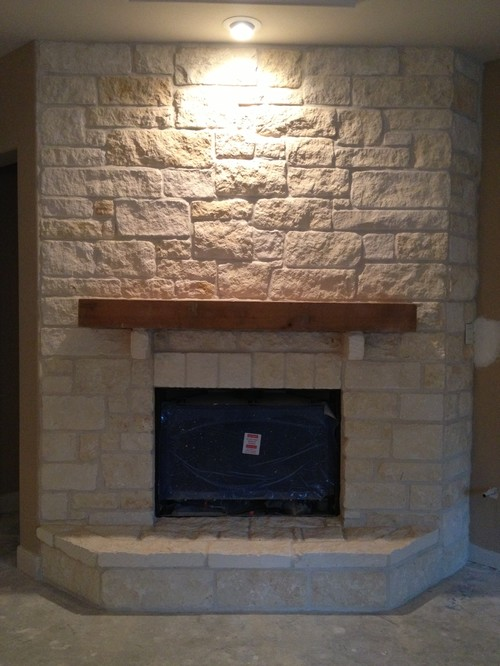 Is this austin brown thin stone veneer also how did you for Austin stone fireplace