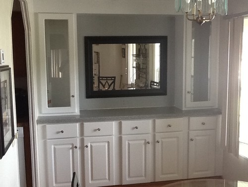 dining room buildin wall unit