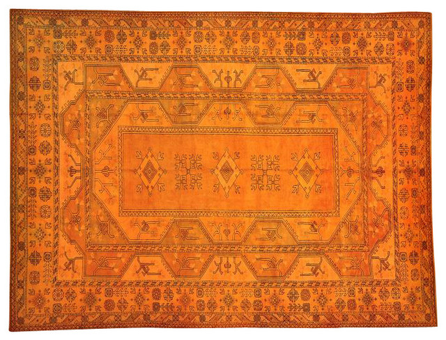 Overdyed Oriental Rug Hand Knotted Turkish Konya 100% Wool Rug Sh13758 transitional-area-rugs