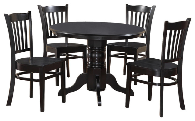 3 Piece Small Kitchen Table Set Round Table And 2 Kitchen