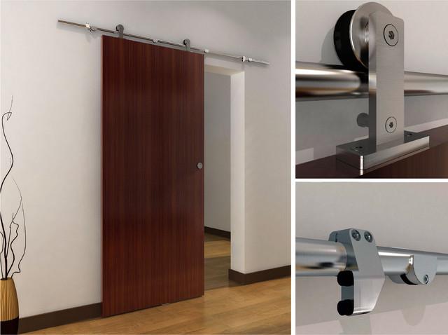 Modern barn door hardware for wood door contemporary - Contemporary interior door knobs ...