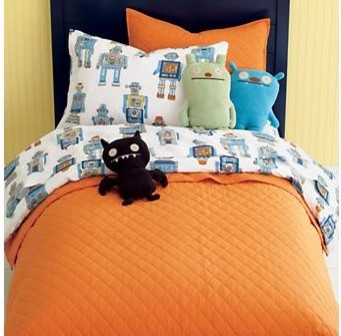 Kids Cotton Robot Bedding contemporary-kids-bedding