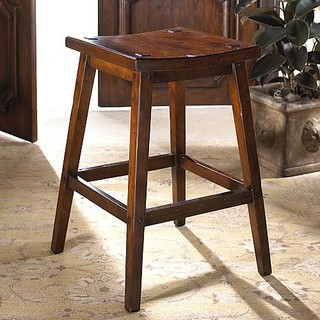 Pastoral Wooden Bar Stool - Traditional - Bar Stools And Counter Stools - by FRONTGATE