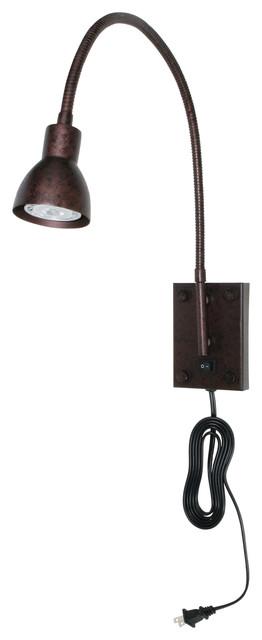 Cal Lighting BO-119-RU 120V, 3W Led Gooseneck Spot Light modern-table-lamps