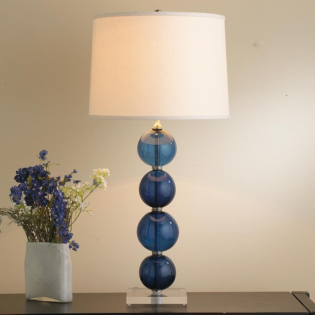 recycled glass ball table lamp 4 colors lamp shades by. Black Bedroom Furniture Sets. Home Design Ideas