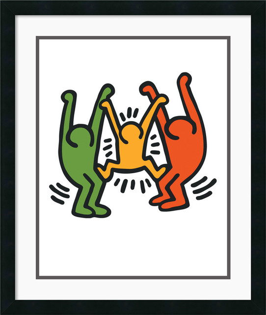 Untitled 1985 Framed Print by Keith Haring traditional-prints-and-posters