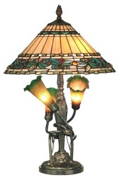 Dale Tiffany Triple Lily Tiffany Table Lamp modern-table-lamps