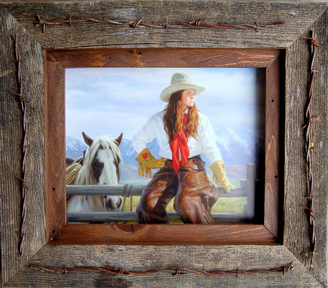 11x14 texas vaquero western frame with barbed wire quality for 11x14 table top frame