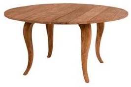 dining table round teak indoor dining table