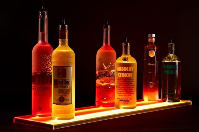 Back Bar Liquor Display - Modern - Bar Stools And Counter Stools - other metro - by Liquor ...