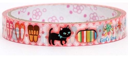 cute kitty Deco Tape shoes San-X home-decor