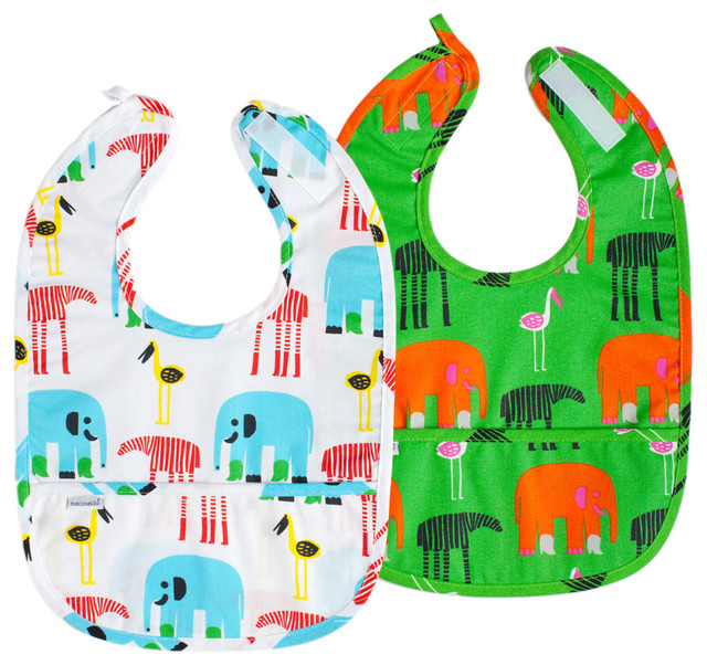 Karkulaiset Bibs, Set of 2 contemporary-baby-and-kids