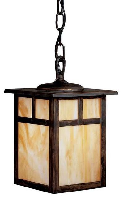 Outdoor Lighting Fixtures Arts And Crafts Kichler Lighting 10958CV Alameda Arts And Crafts Mission Outdoor Hanging Pend