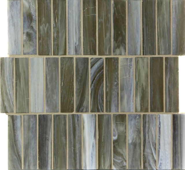 """Sepia Shimmer 1"""" x 4"""" Brown Pool Frosted Glass contemporary-tile"""