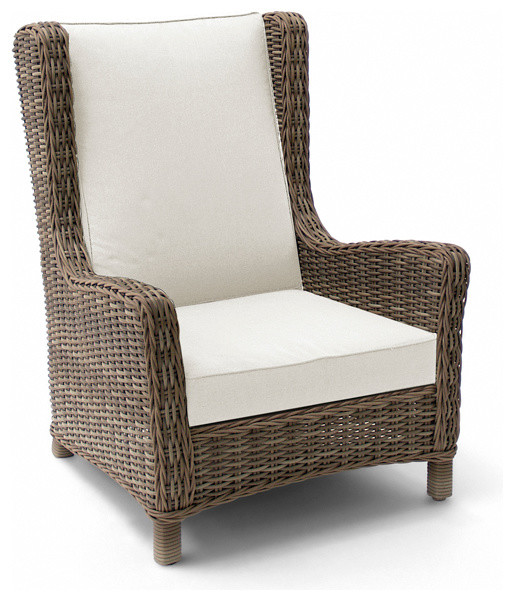 Wicker Wing Chair Contemporary Outdoor Lounge Chairs by Cosh Living Des