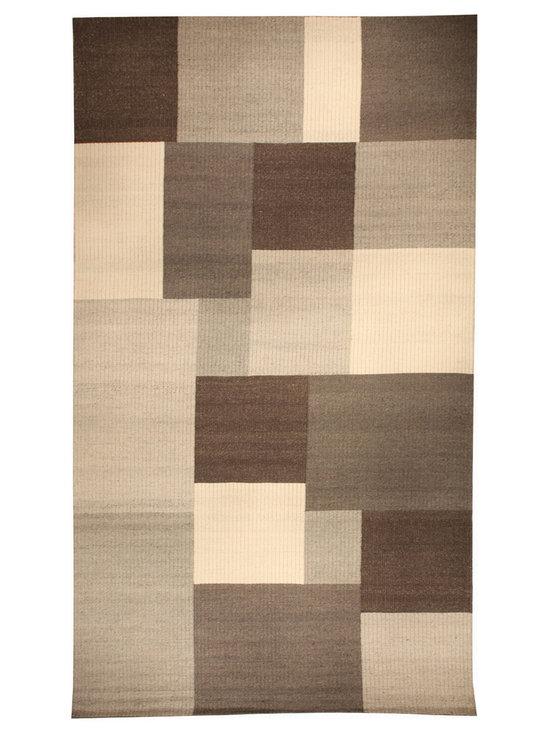 """Unique modern rugs - Tulu Nadu """"The Grey Streppe"""" N10349"""