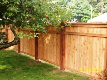 Custom Wood Fence midcentury