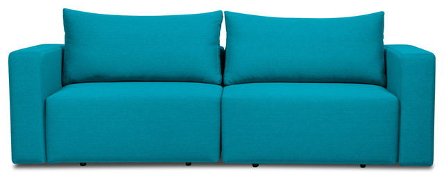 Mandalay ii turquoise sleeper sofa modern sofas - Turquoise sofa ...