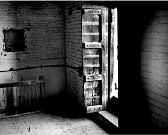 Door - Original Black and white Print. Film. Travel Photography. 8.5  11 in