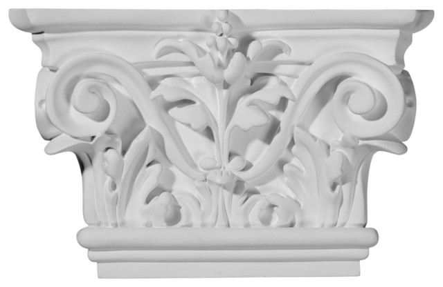 "8 5/8""W x 5 1/2""H Acanthus Leaf Capital (Fits Pilasters up to 5 1/4""W x 5/8""D) modern-capitals-and-posts"