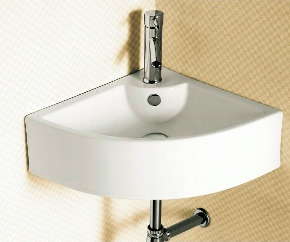 Wall Mounted Corner Bathroom Sink By Caracalla contemporary-bathroom ...