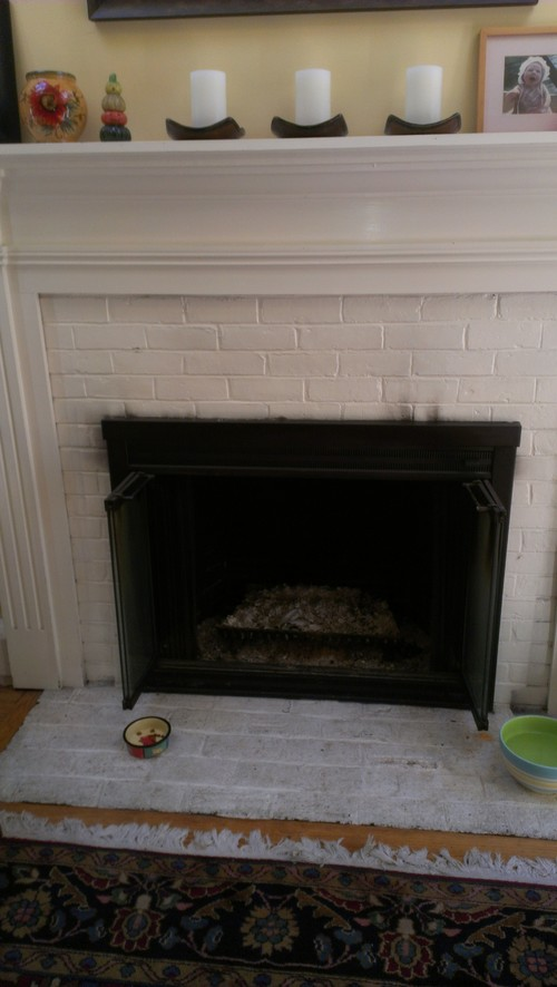 Ideas For Re Vamping White Painted Brick Fireplace Surround