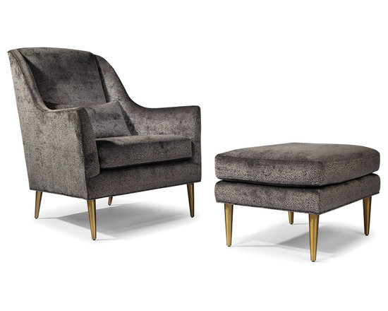Jessica Lounge Chair and Ottoman from Thayer Coggin -