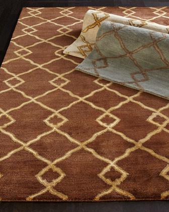 """Crossing Diamond"" Rug traditional-rugs"