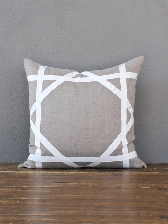 cream trellis pillow - view this item on our website for more information + purchasing availability: http://redinfred.com/shop/category/gift/sale/cream-trellis-pillow/
