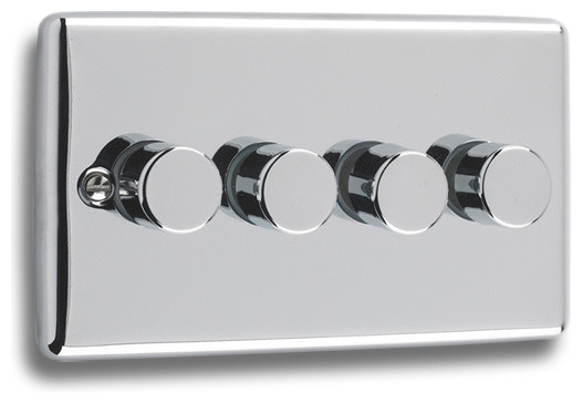 Windsor polished chrome sockets and switches modern light switches plug sockets other - Modern switches and sockets ...