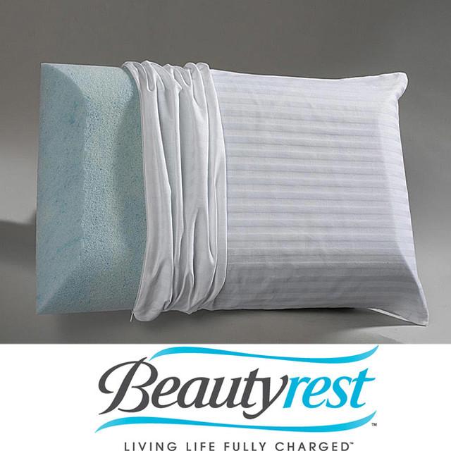 Modern Home Gel Pillow : Beautyrest Marble Gel Classic Memory Foam Pillow - Contemporary - Mattresses - by Overstock.com