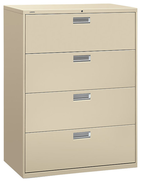 """Brigade 600 4-Drawer Lateral File, 42"""" Wide - Contemporary - Filing Cabinets - by SmartFurniture"""