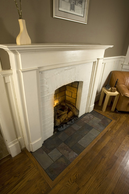 Eastwood Slate Fireplace Hearth traditional family room